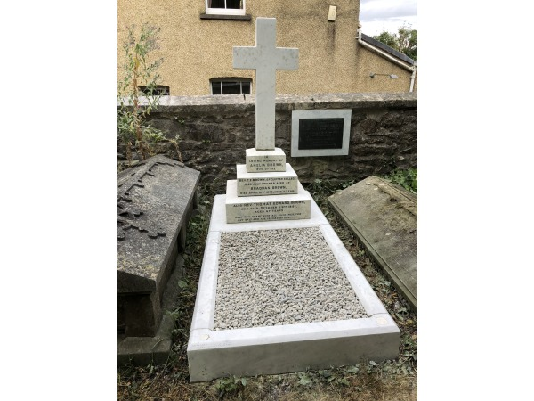 restored grave - work by Simon Ashwell Stone Man
